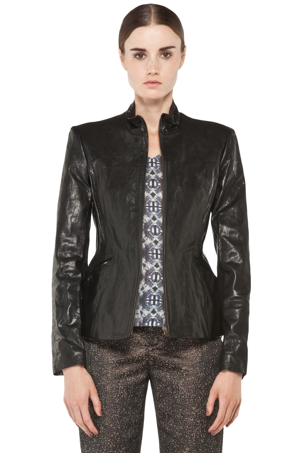 Image 1 of Theyskens' Theory Jabari Nurin Leather Jacket in Black