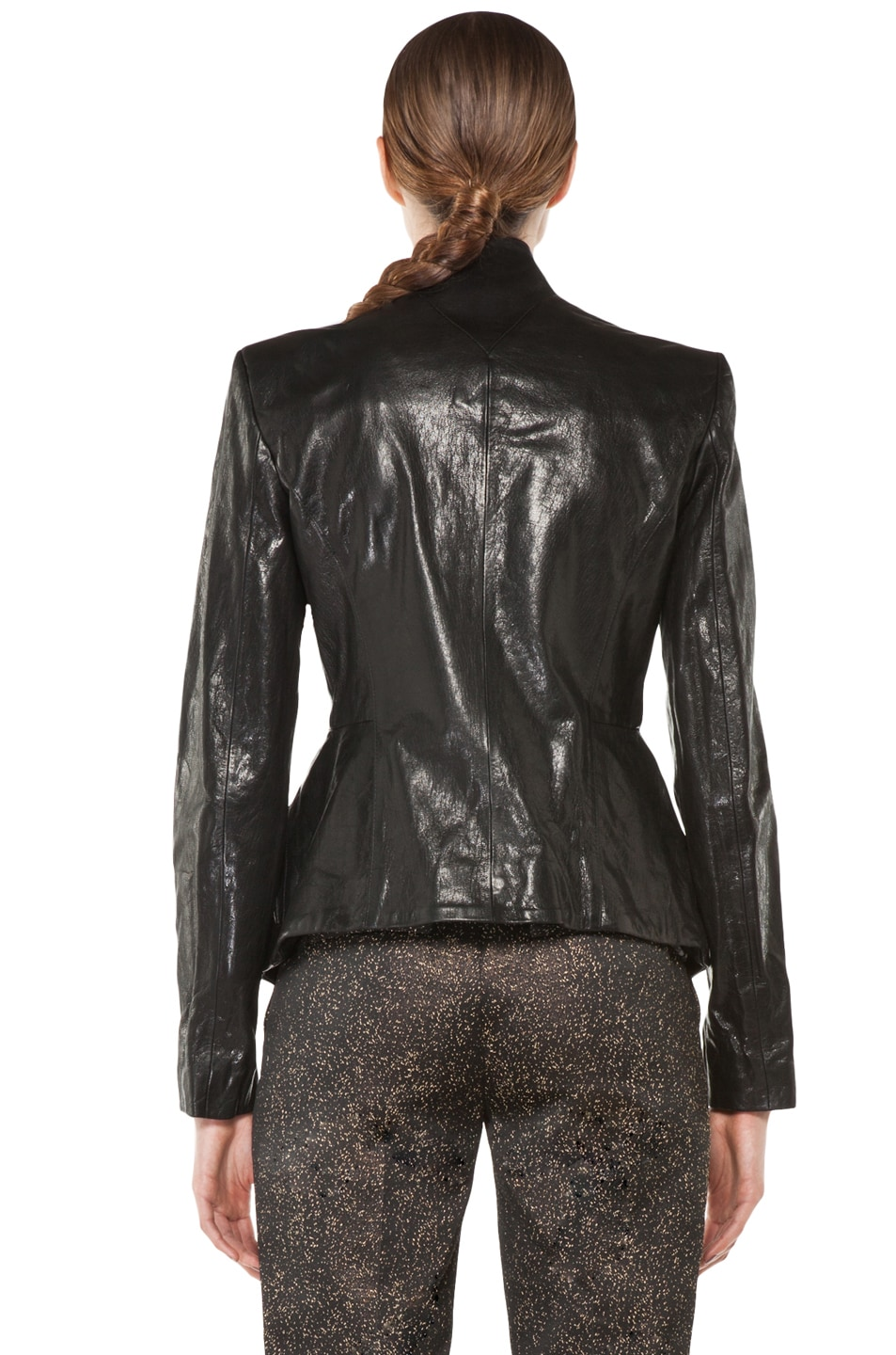 Image 5 of Theyskens' Theory Jabari Nurin Leather Jacket in Black