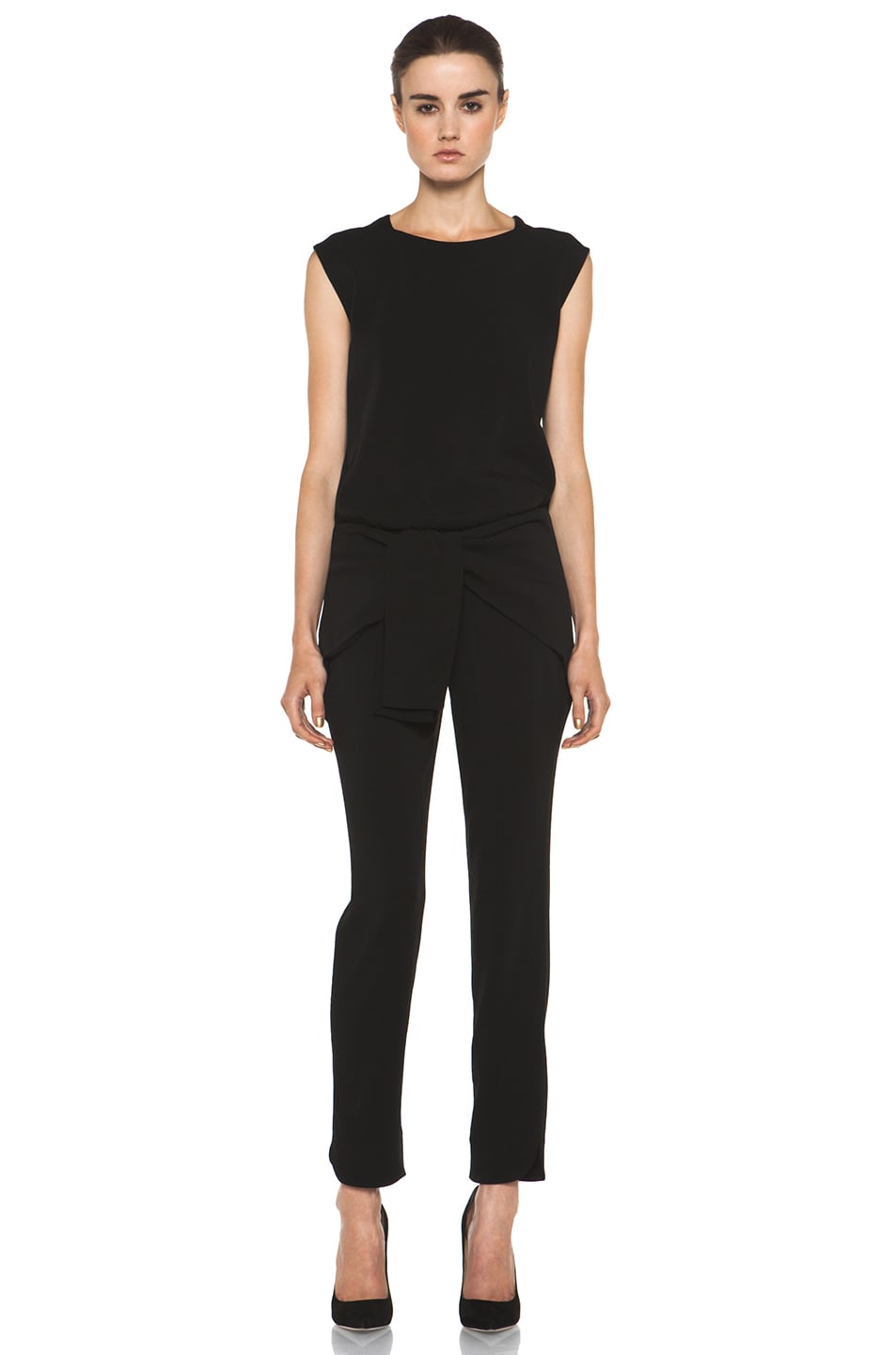 Image 1 of Theyskens' Theory Fomment Ginta Jumpsuit in Black