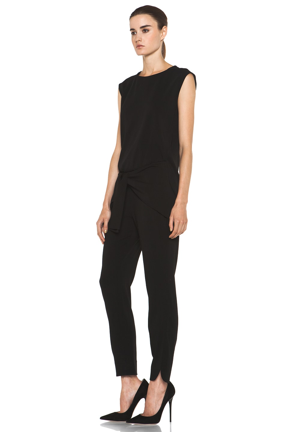Image 2 of Theyskens' Theory Fomment Ginta Jumpsuit in Black