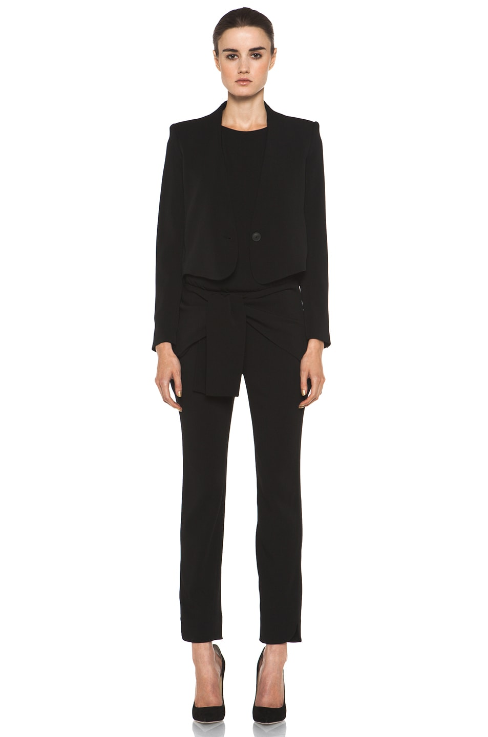 Image 5 of Theyskens' Theory Fomment Ginta Jumpsuit in Black