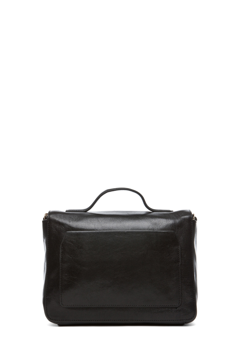 Image 2 of Theyskens' Theory Waren Ang Leather Bag with Chain in Black