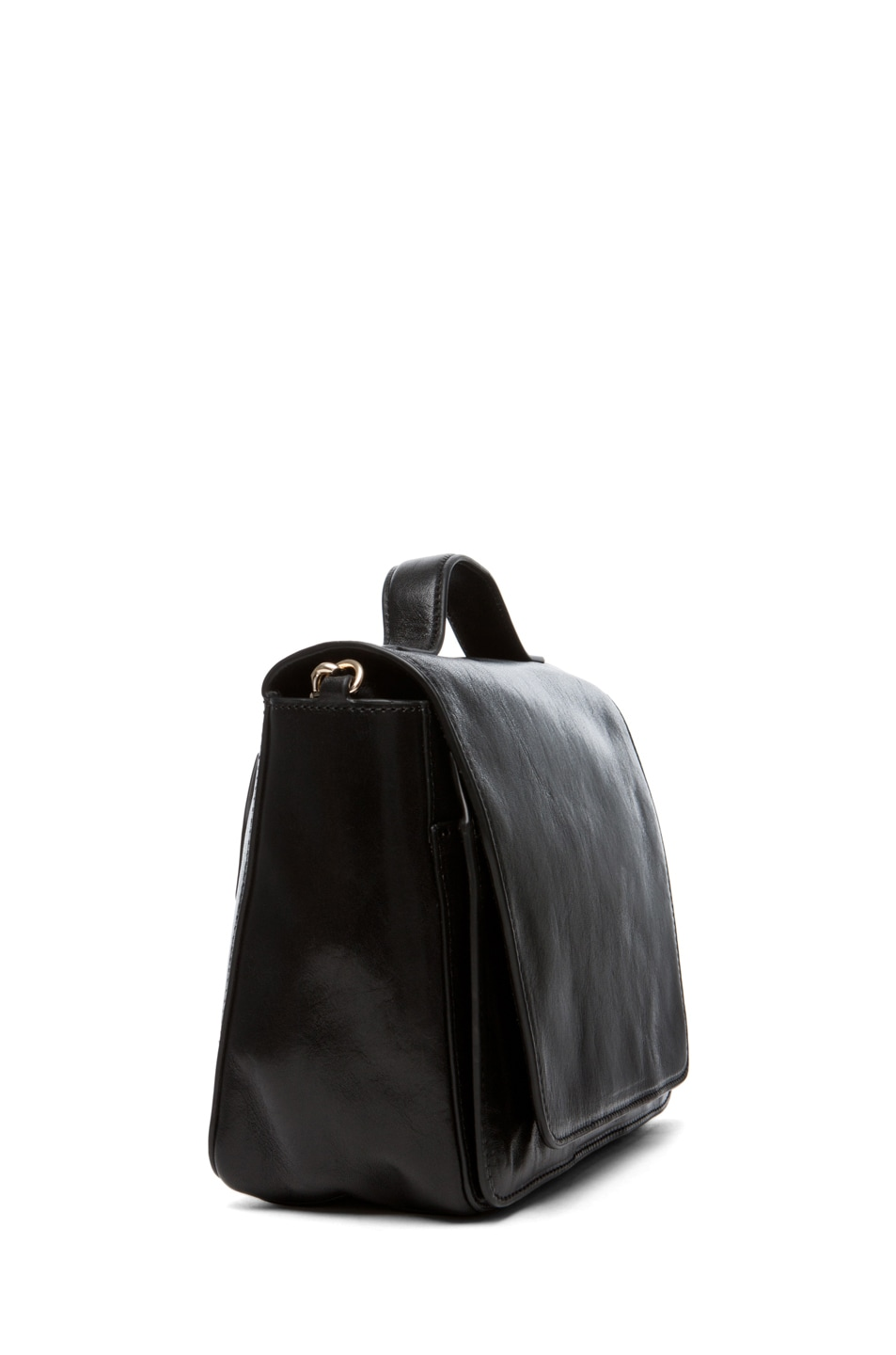 Image 3 of Theyskens' Theory Waren Ang Leather Bag with Chain in Black
