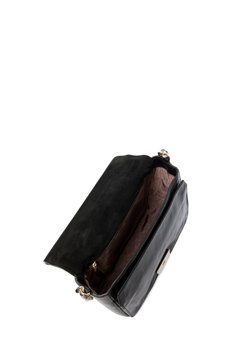 Image 4 of Theyskens' Theory Waren Ang Leather Bag with Chain in Black