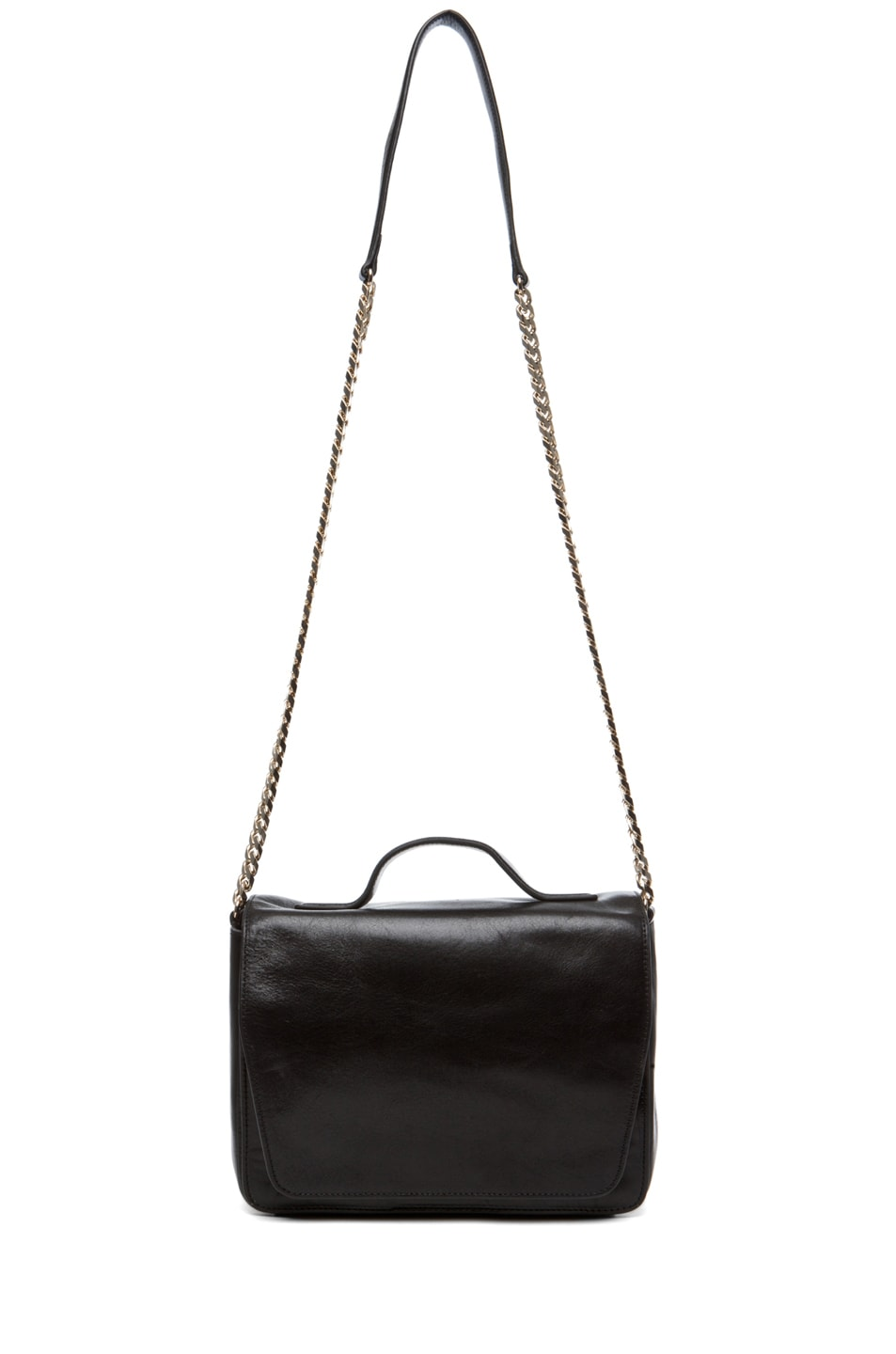 Image 5 of Theyskens' Theory Waren Ang Leather Bag with Chain in Black
