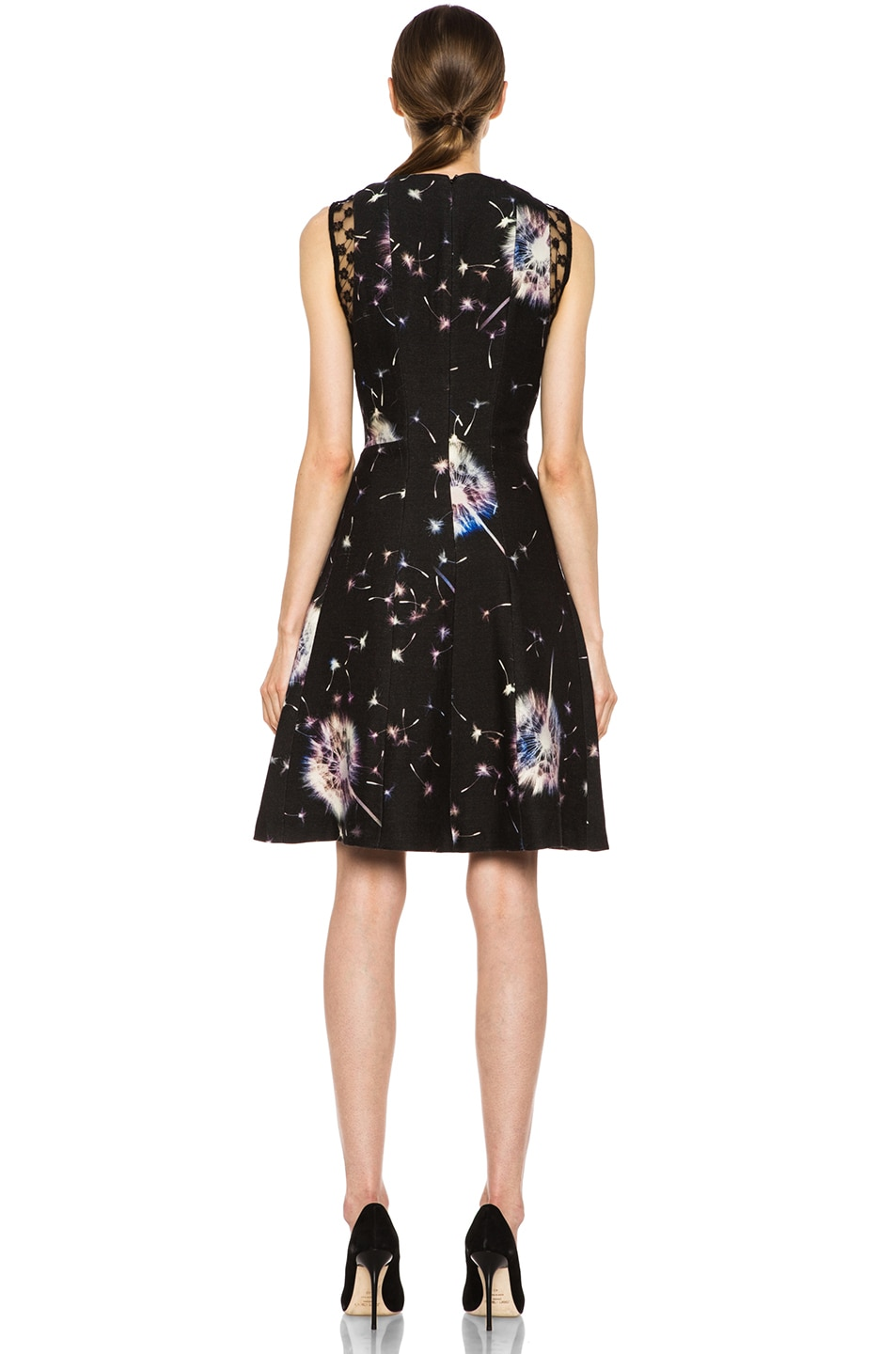 Image 4 of Thakoon Lace Inset Wool Dress in Black Multi