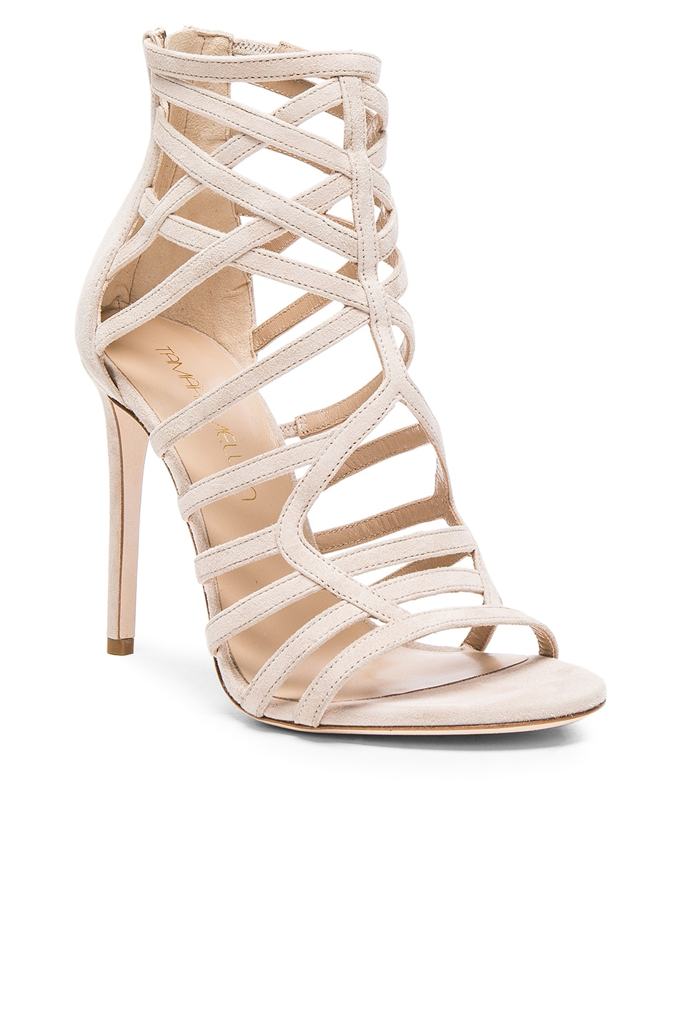Image 2 of Tamara Mellon Goddess Nappa & Suede Sandals in Nude