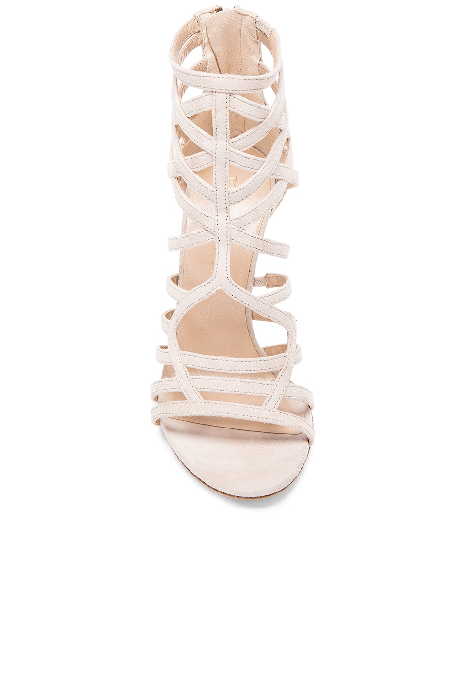 Image 4 of Tamara Mellon Goddess Nappa & Suede Sandals in Nude