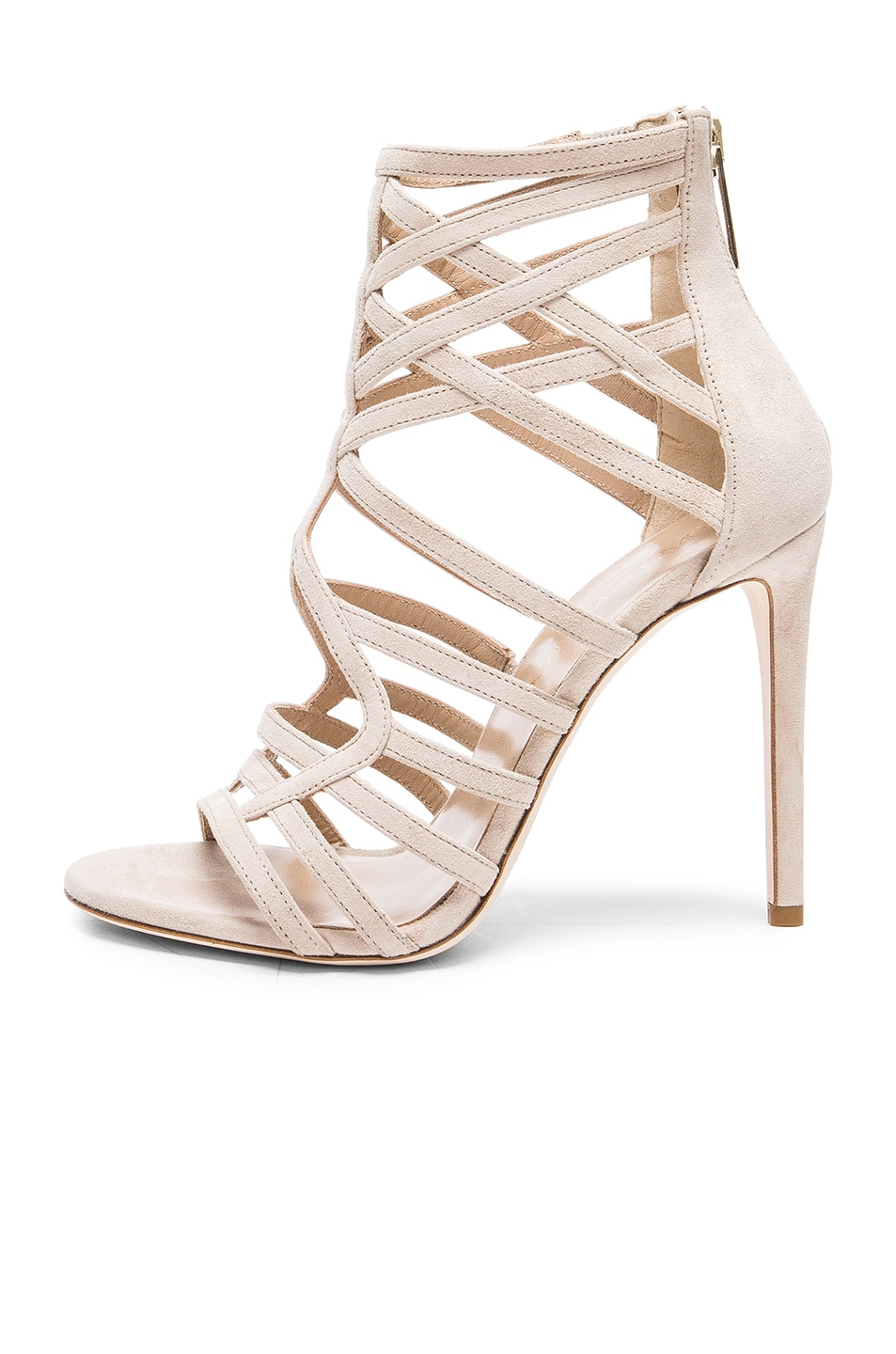 Image 5 of Tamara Mellon Goddess Nappa & Suede Sandals in Nude