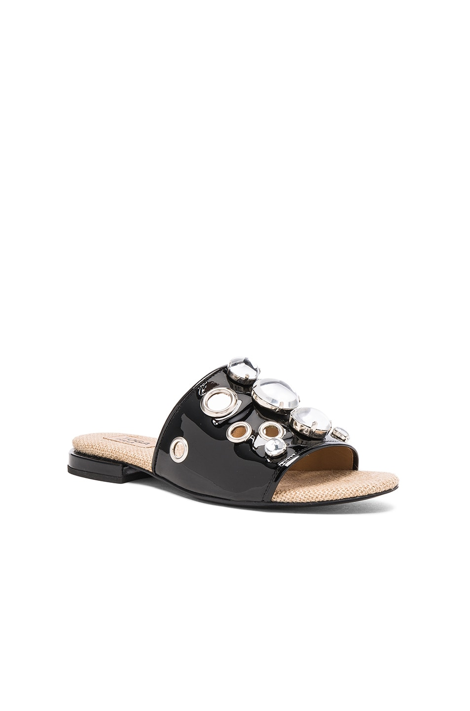 Image 2 of TOGA PULLA Patent Leather Sandals in Black Patent