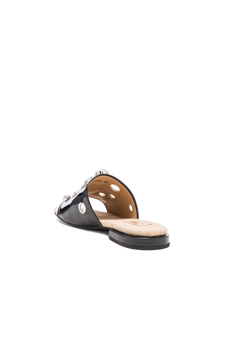 Image 3 of TOGA PULLA Patent Leather Sandals in Black Patent