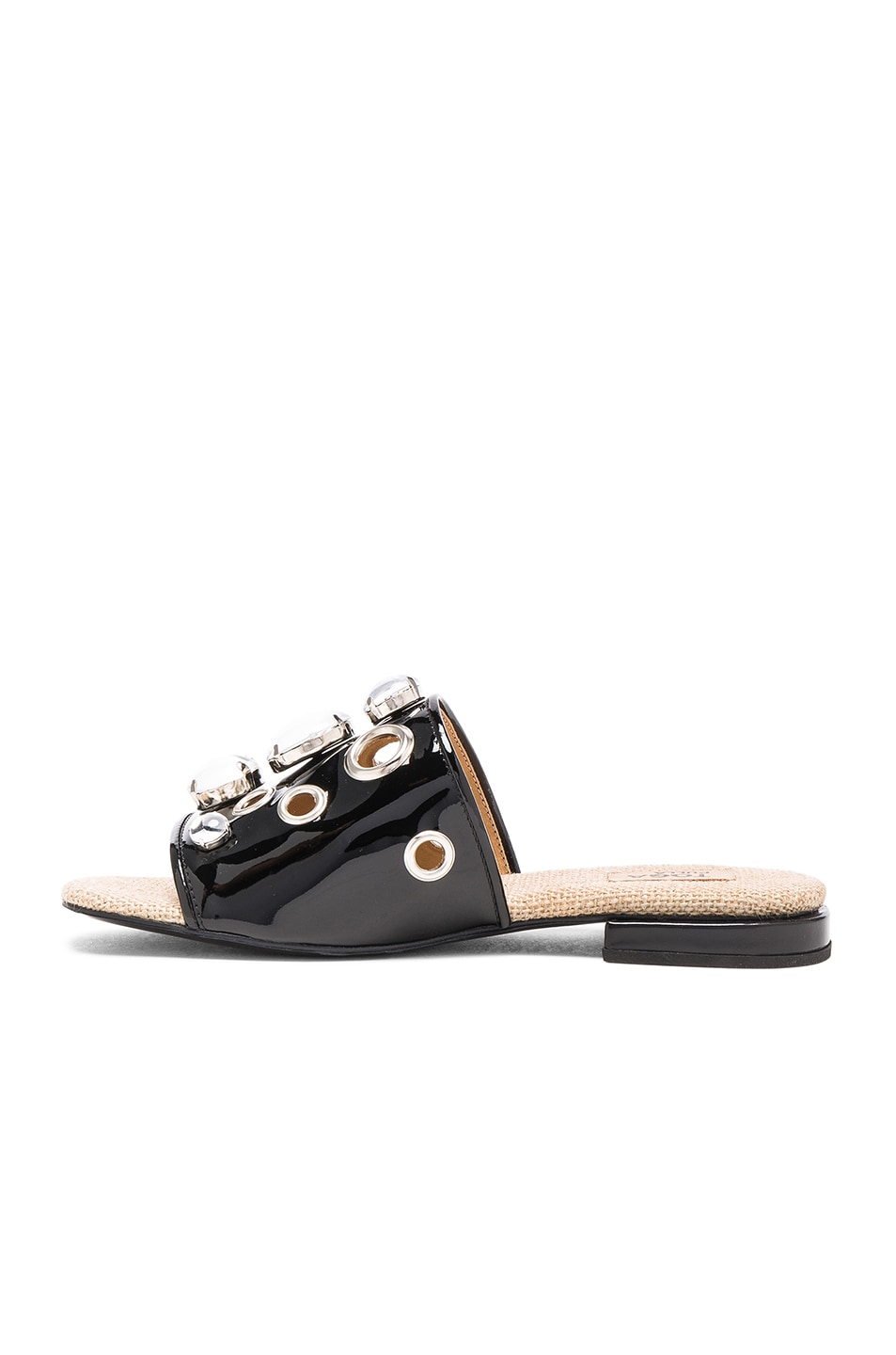 Image 5 of TOGA PULLA Patent Leather Sandals in Black Patent