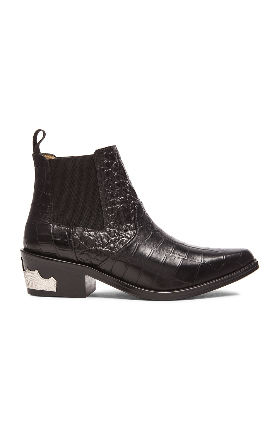 Image 1 of TOGA PULLA Embossed Buckle Bootie in Black