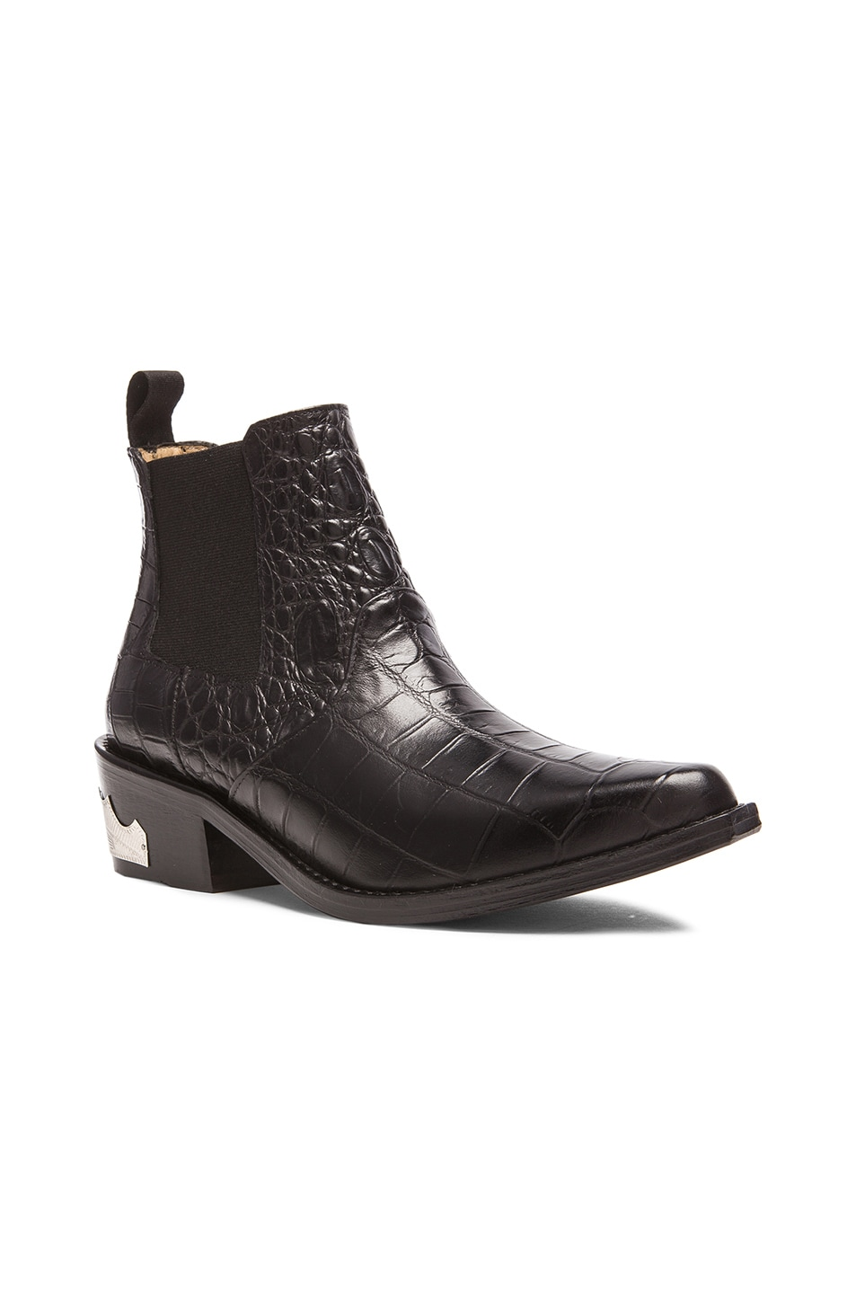 Image 2 of TOGA PULLA Embossed Buckle Bootie in Black