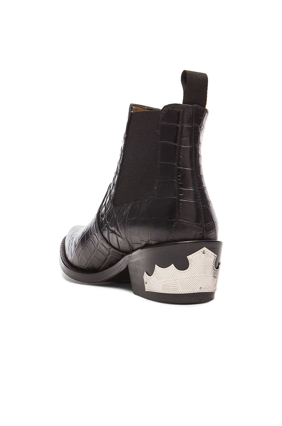 Image 3 of TOGA PULLA Embossed Buckle Bootie in Black