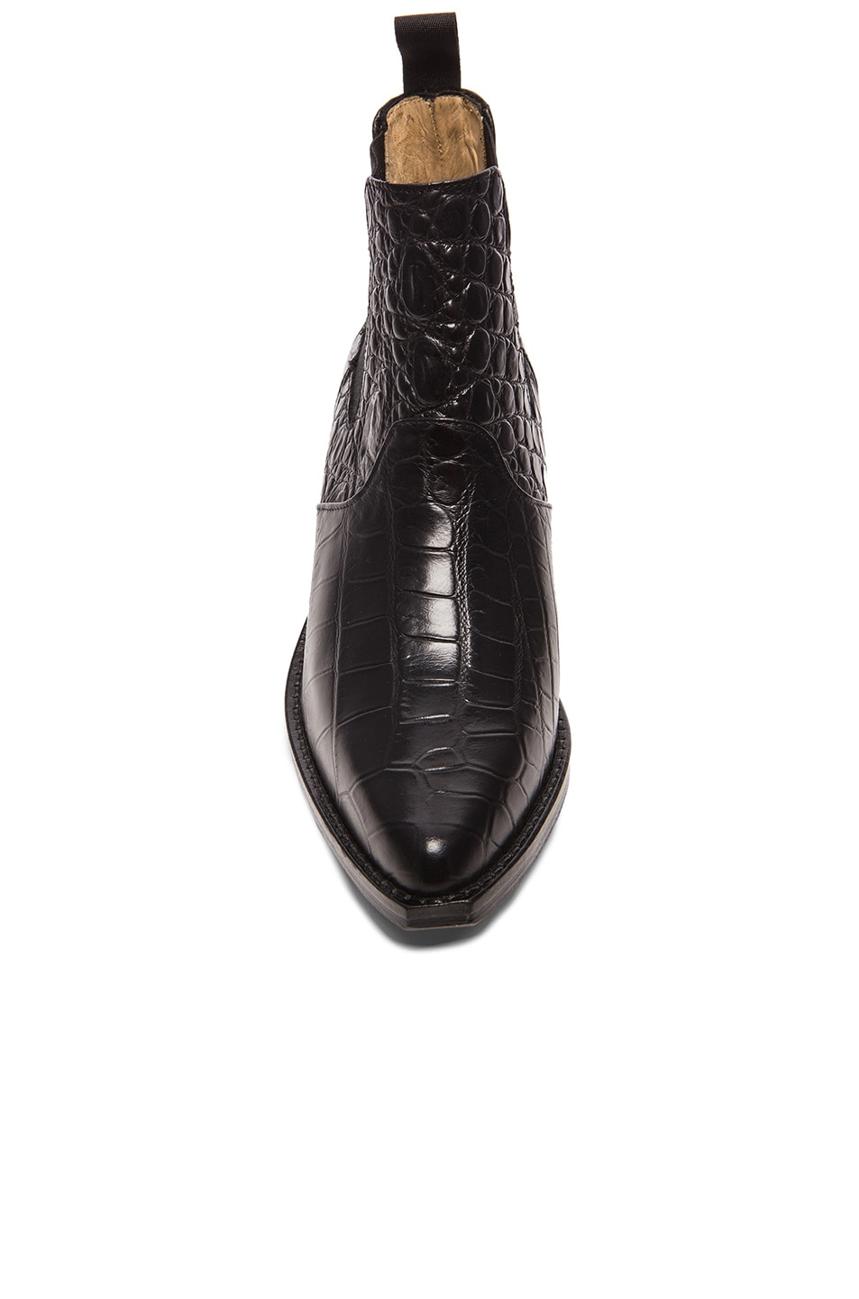 Image 4 of TOGA PULLA Embossed Buckle Bootie in Black