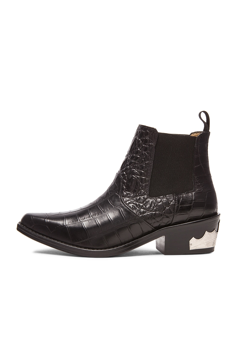 Image 5 of TOGA PULLA Embossed Buckle Bootie in Black