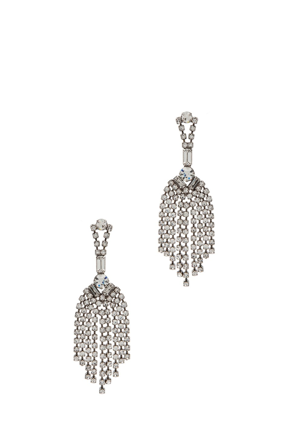 Image 1 of Tom Binns Crystal Chandelier Earrings in White