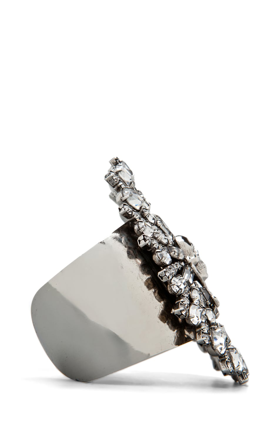 Image 3 of Tom Binns Parure Crystal Skull and Crossbones Cuff in White
