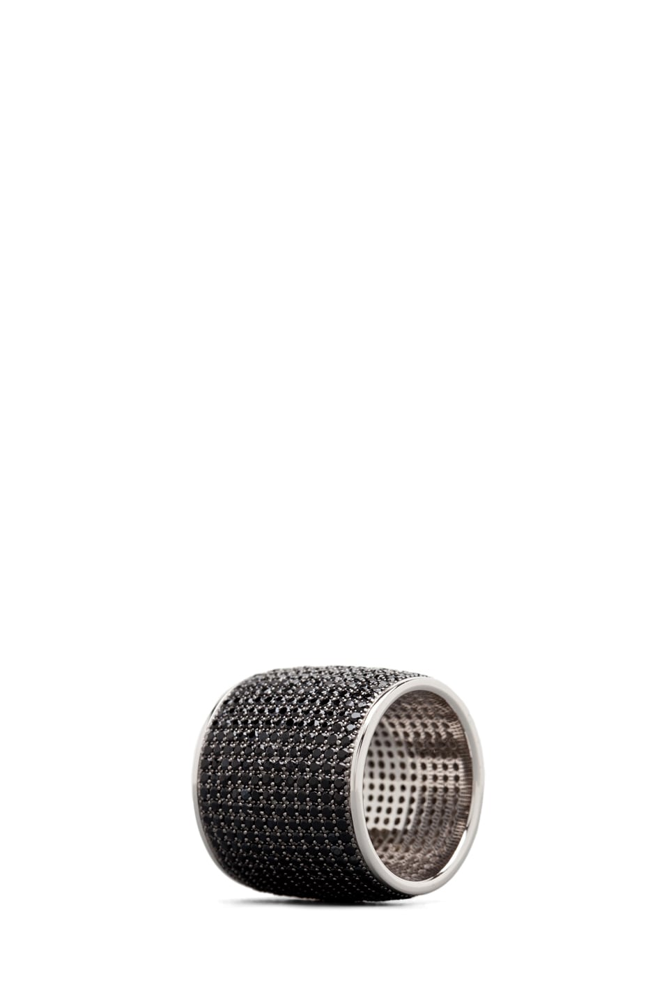 Image 2 of Tom Binns Bejeweled Plated Ring in Black