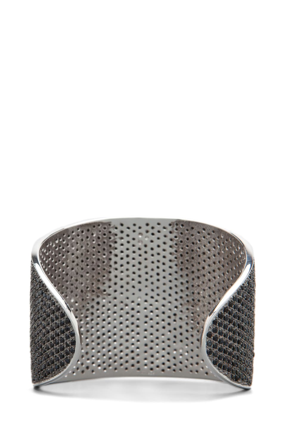 Image 3 of Tom Binns Bejeweled Plated Cuff in Black