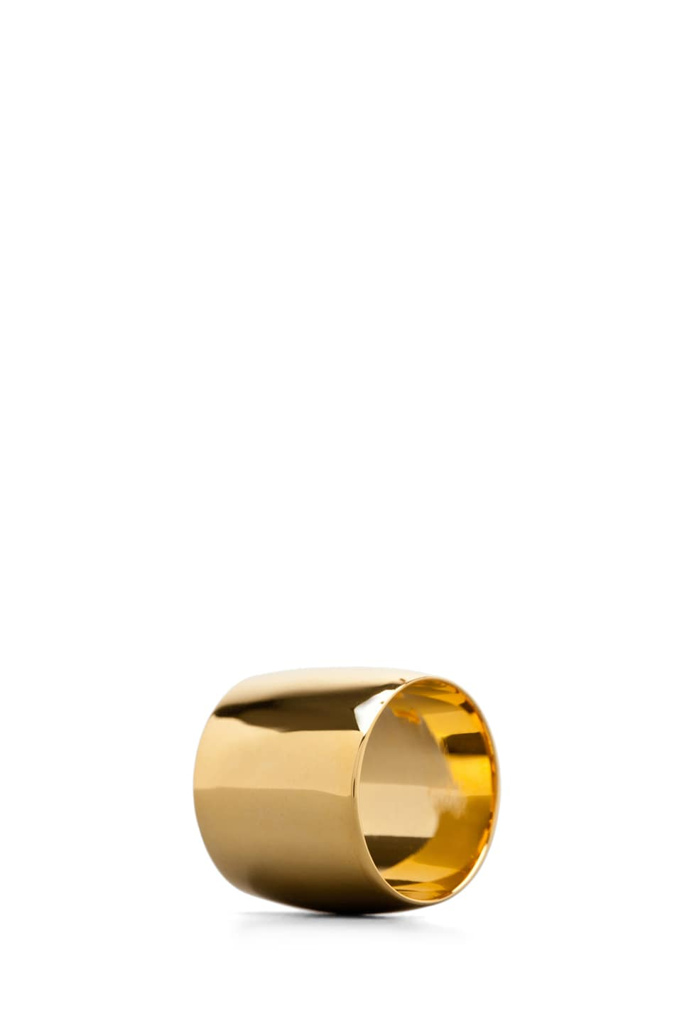 Image 2 of Tom Binns Classic Plated Ring in Gold