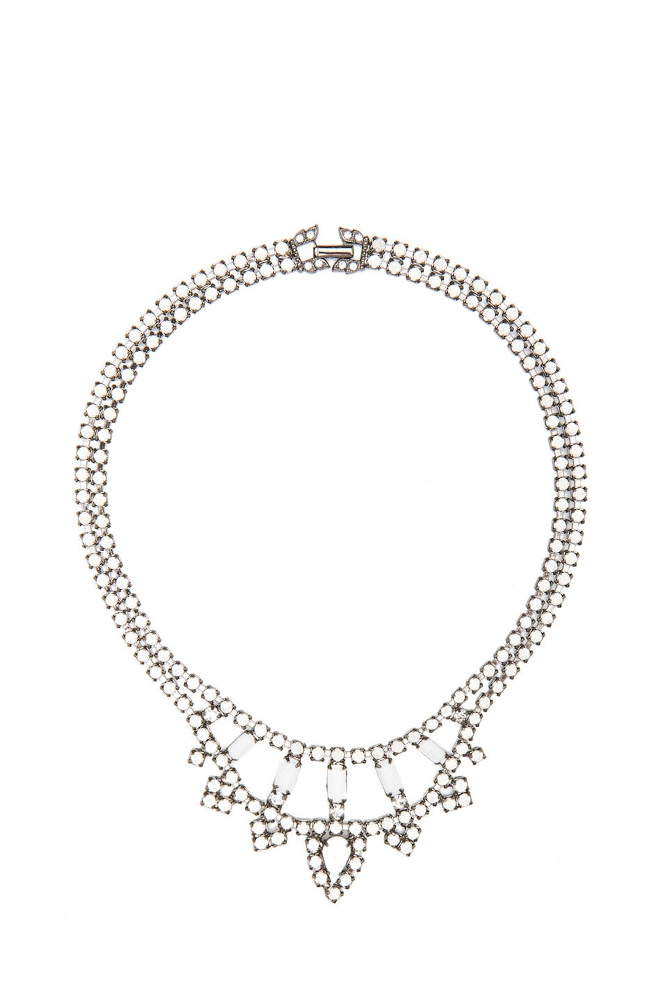 Image 1 of Tom Binns Carte Blanche Rhodium Plated Necklace in Diamond
