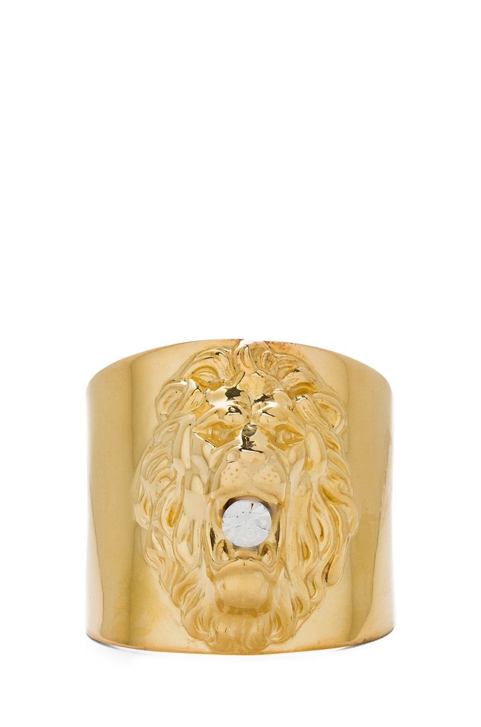 Image 1 of Tom Binns Plated Lion Cuff in Gold