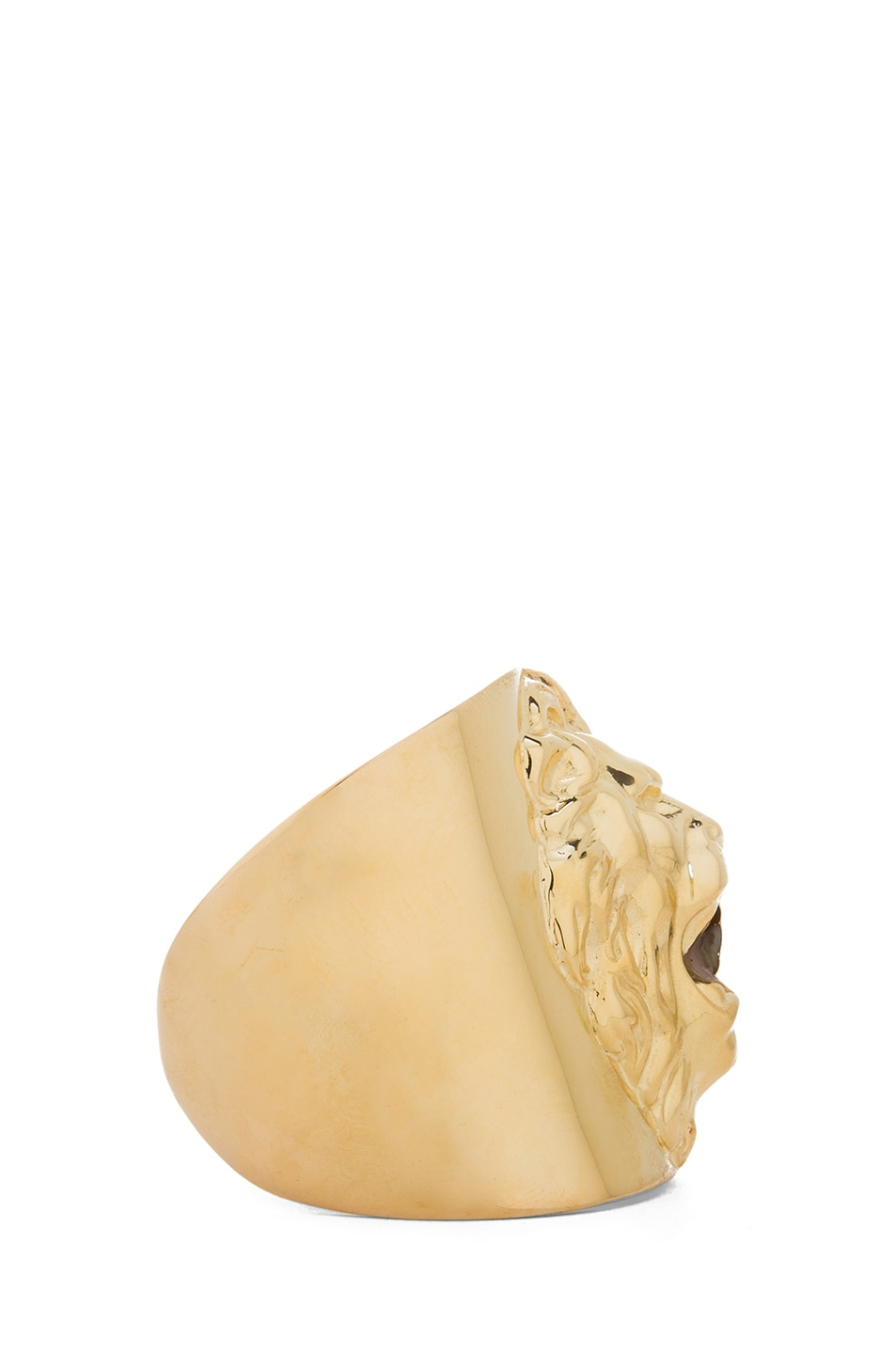 Image 2 of Tom Binns Plated Lion Cuff in Gold
