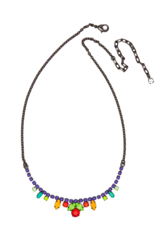 Image 1 of Tom Binns Dot Dash Necklace in Purple Multi