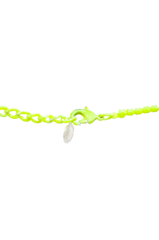 Image 2 of Tom Binns Neo Neon Hand Painted Rhodium Necklace in Yellow Neon