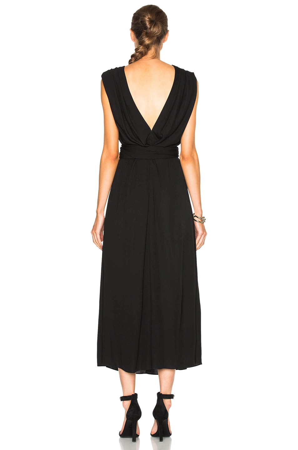 Image 4 of Tome Criss Cross Jersey Dress in Black