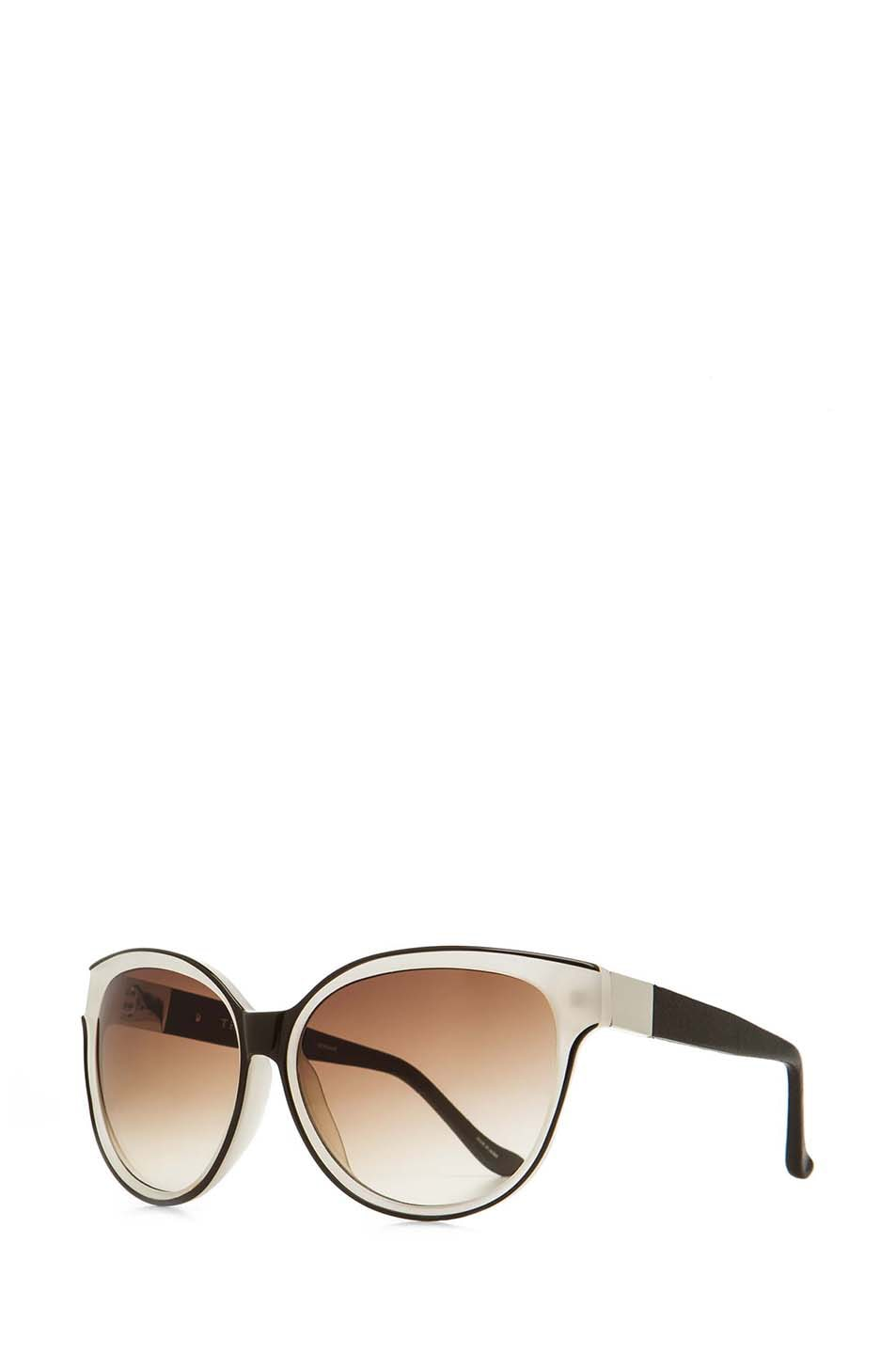 Image 2 of The Row Oversized Sunglasses in Iron & Blush