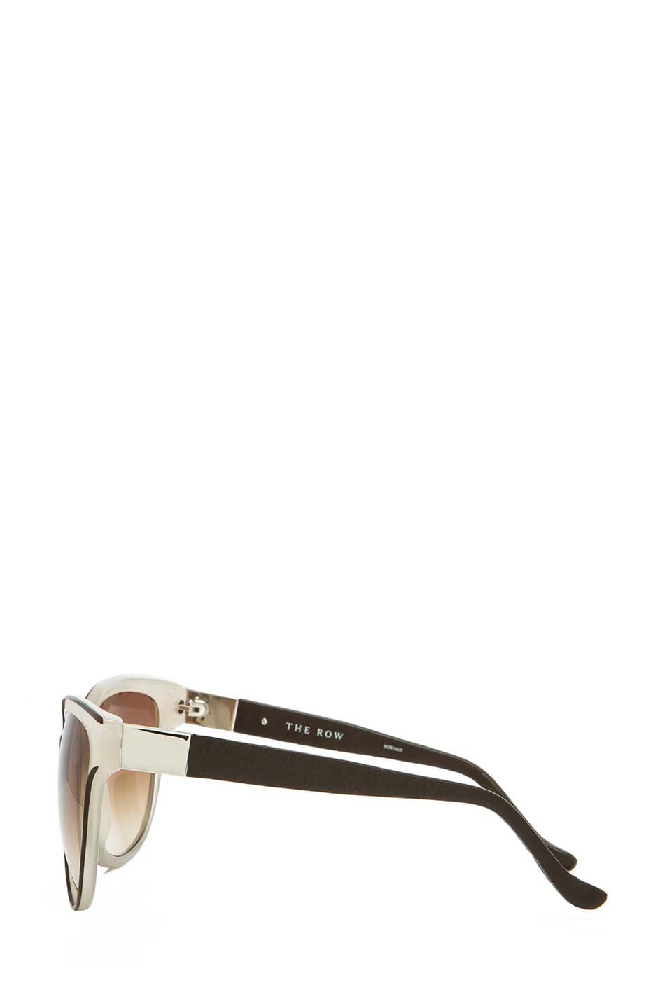 Image 3 of The Row Oversized Sunglasses in Iron & Blush