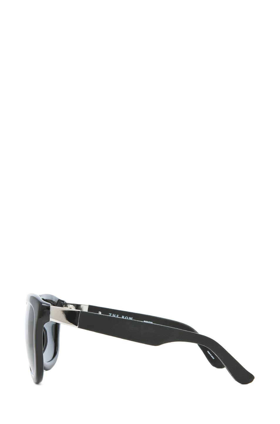 Image 3 of The Row Temple Design D-Frame Sunglasses in Black