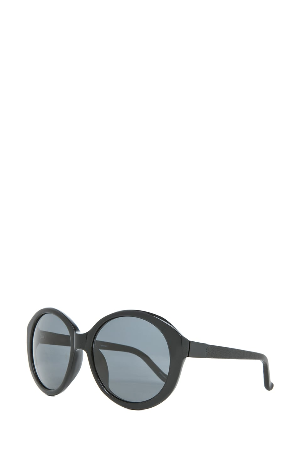 Image 2 of The Row Oversized Round Sunglasses in Black