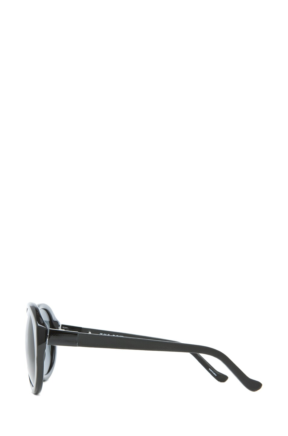 Image 3 of The Row Oversized Round Sunglasses in Black