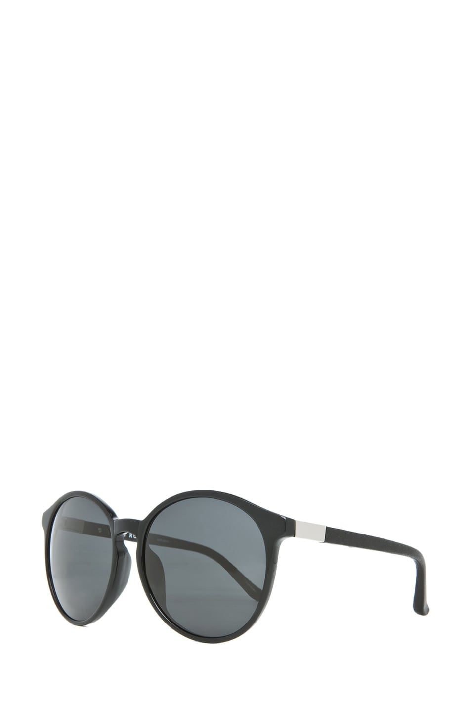 Image 2 of The Row Classic Keyholde Round Sunglasses in Black