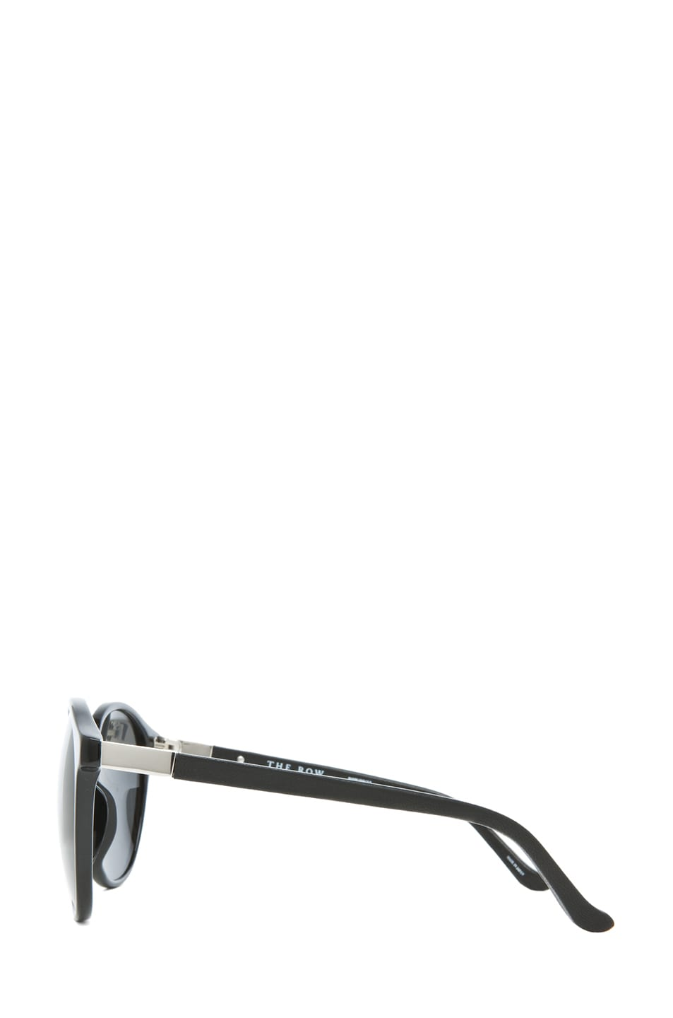 Image 3 of The Row Classic Keyholde Round Sunglasses in Black