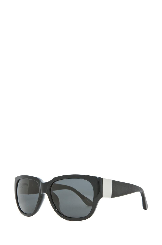 Image 2 of The Row Rectangular D-Frame Sunglasses in Black