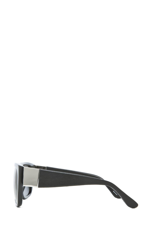 Image 3 of The Row Rectangular D-Frame Sunglasses in Black
