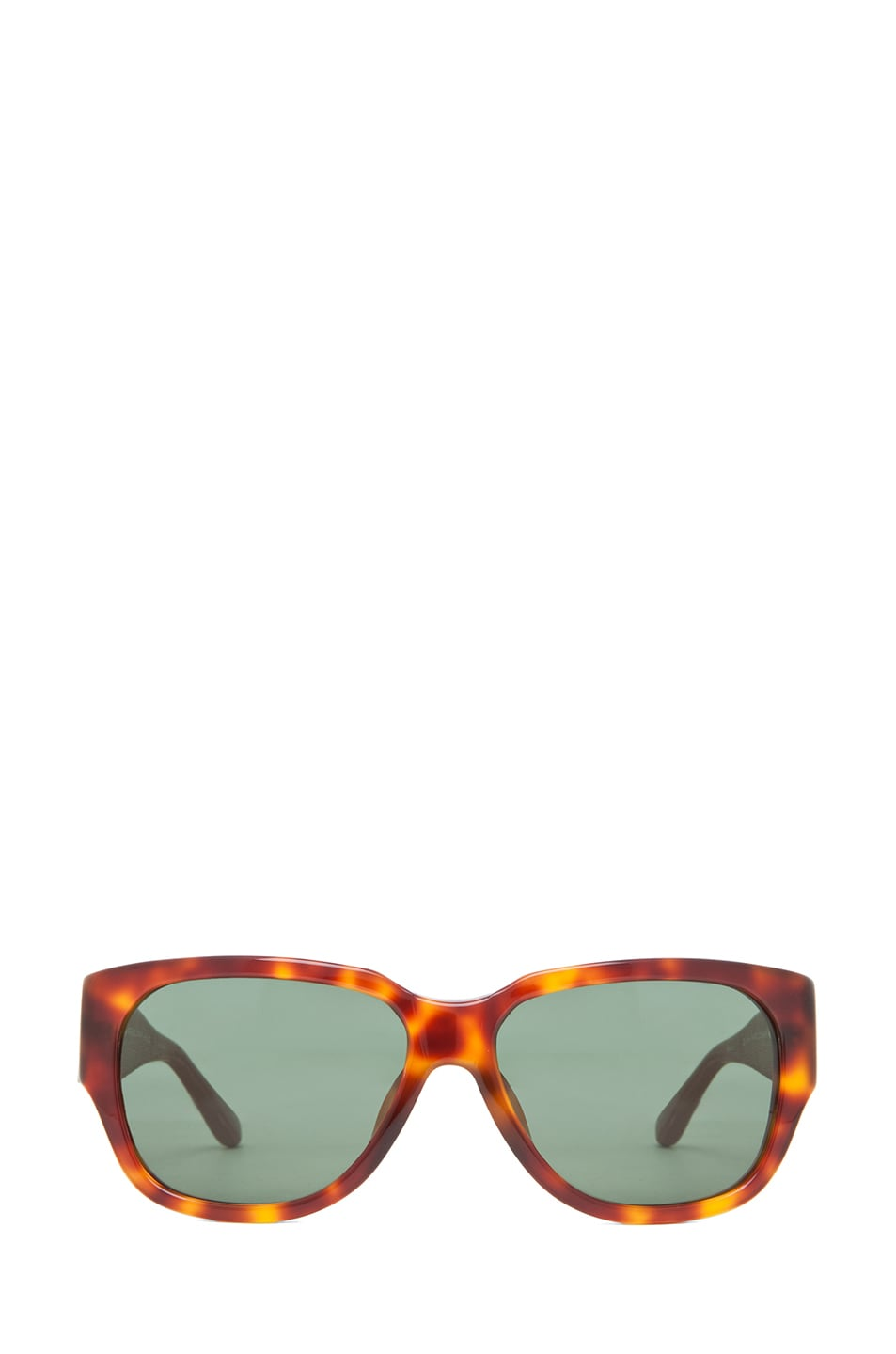 Image 1 of The Row Rectangular D-Frame Sunglasses in Tortoise & Brown