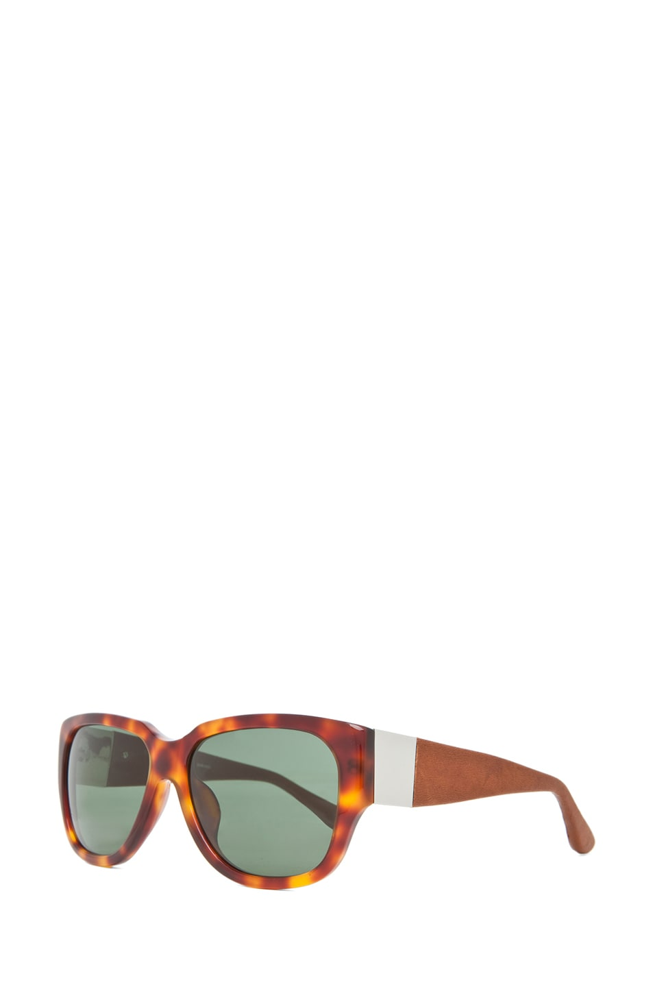 Image 2 of The Row Rectangular D-Frame Sunglasses in Tortoise & Brown