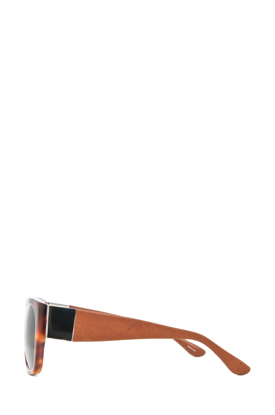 Image 3 of The Row Rectangular D-Frame Sunglasses in Tortoise & Brown
