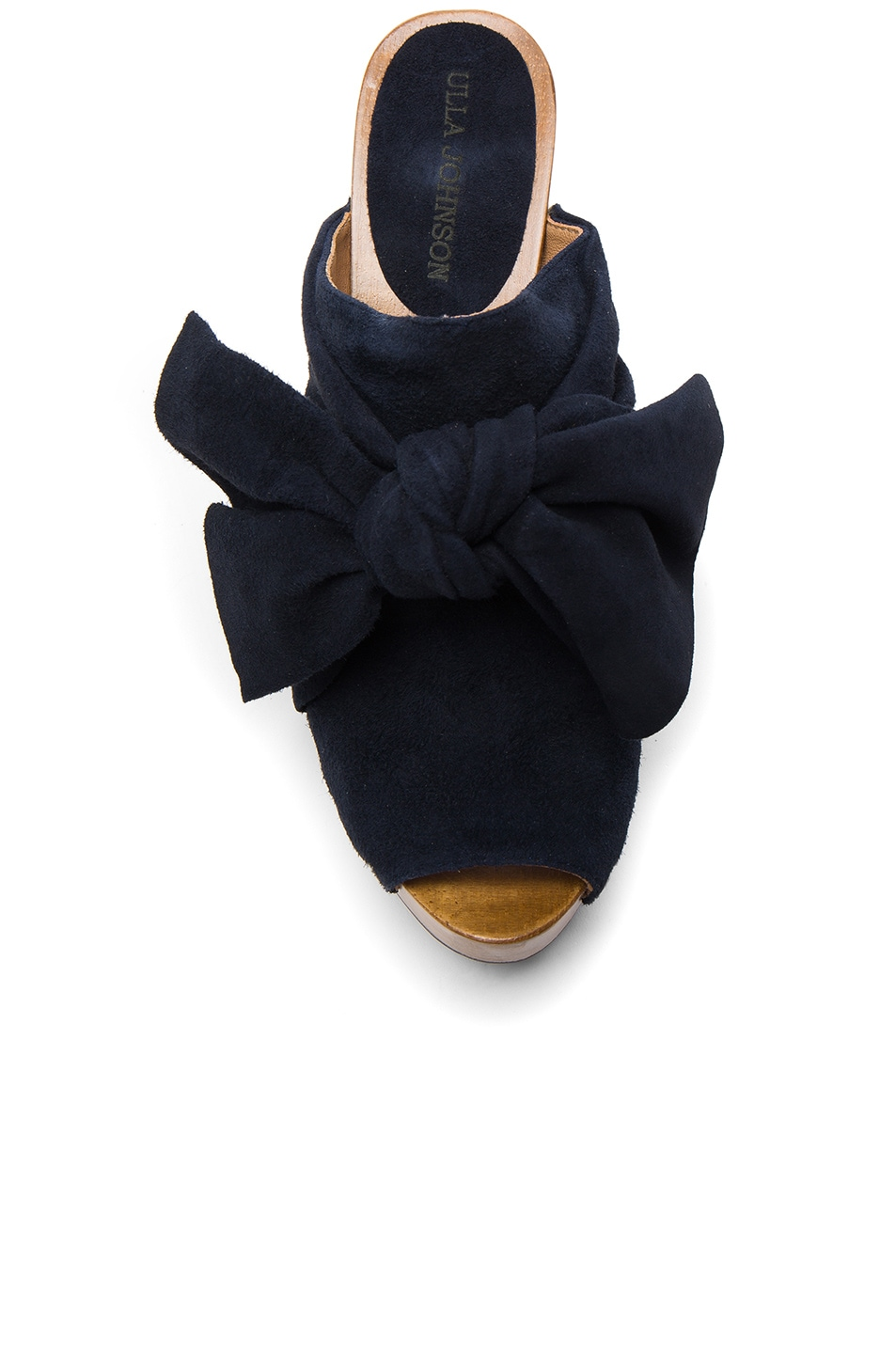 Image 4 of Ulla Johnson Suede Stevie Clogs in Midnight Suede