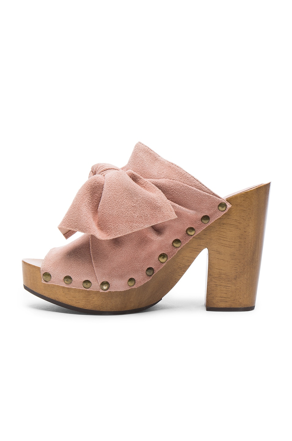 Image 5 of Ulla Johnson Suede Stevie Clogs in Rose Suede