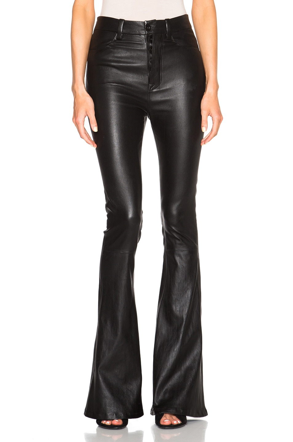 Image 1 of Unravel for FWRD High Waisted Flare Pants in Black