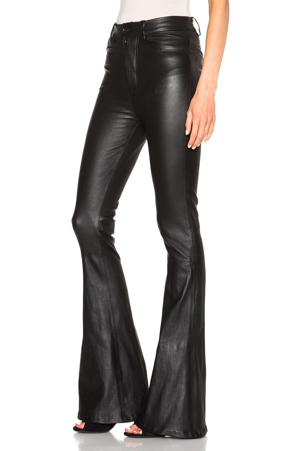 Image 2 of Unravel for FWRD High Waisted Flare Pants in Black