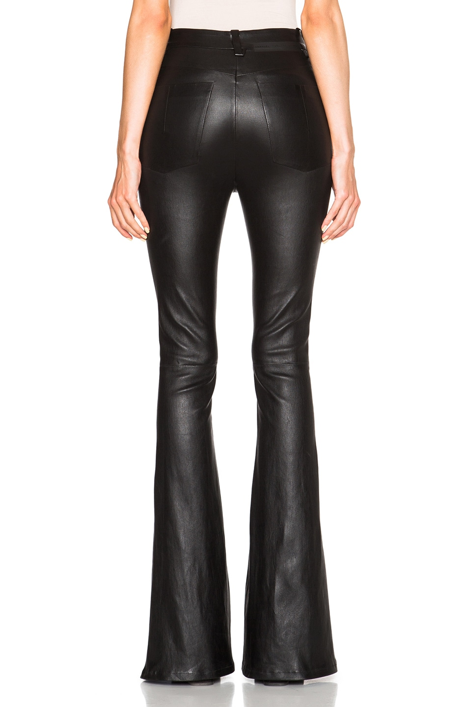 Image 4 of Unravel for FWRD High Waisted Flare Pants in Black