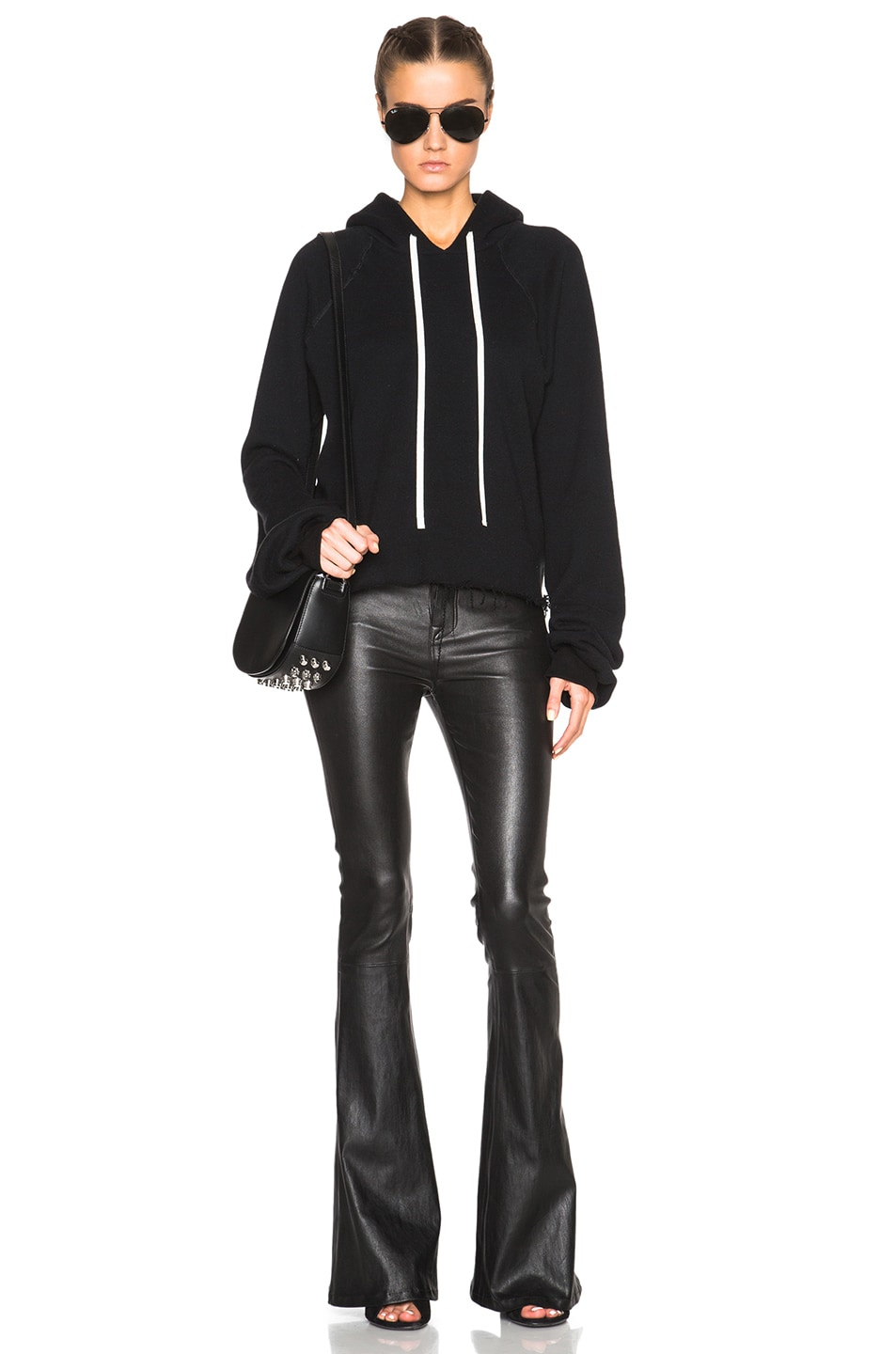 Image 5 of Unravel for FWRD High Waisted Flare Pants in Black